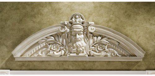 31 W Greek God Prometheus Wall Sculpture Statue Door Pediment
