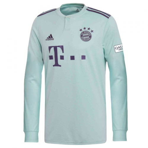 pretty nice 5acba 3c64a Bayern Munchen 18/19 Away Long Sleeve Men Soccer Jersey ...