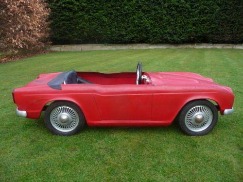 Rare 1960s Triumph TR4A Pedal Car Barn Find