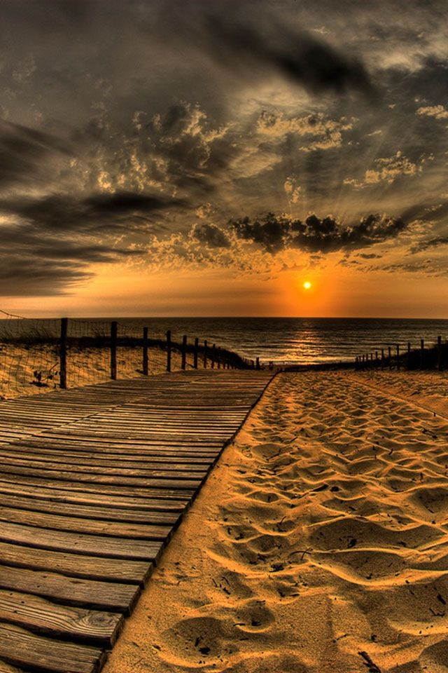 Beautiful Beach View Beach Sunset Wallpaper Nature Photography Nature Photos