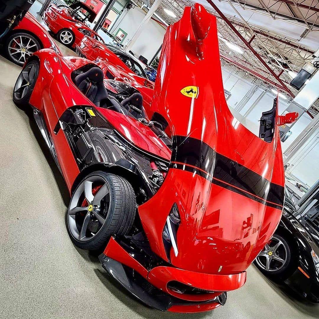 "Ferrari Monza SP1 & SP2 on Instagram: ""New Ferrari Monza SP2 in Chicago . . . [Photo By @autobox.express @alex_mnrrz @autoinvest24.premiumcars] . . . #ferrari #monza #sp1…"""