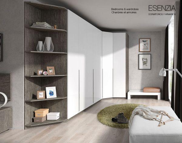 Amplio y pr ctico armario de rinc n de 300 x 132 cm y de for Armario para dormitorio matrimonio