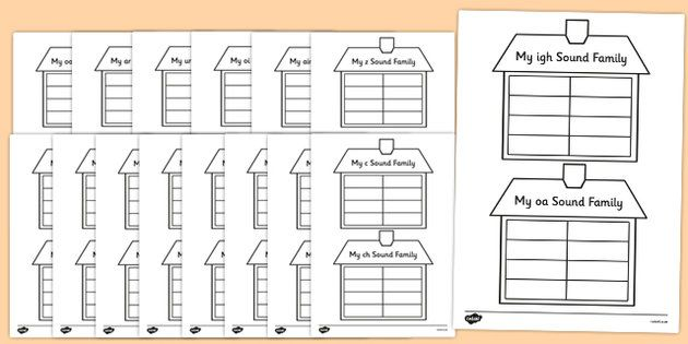 Sound Family House Writing Template Challenge Book Pinterest - writing template