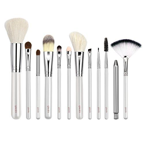 Gisala 12 Pcs Premium Kabuki Makeup Brush Set Cosmetics Foundation Blending Blush Eyeliner Face Powder Kabuki Makeup Brushes Makeup Brush Bag Makeup Brush Set
