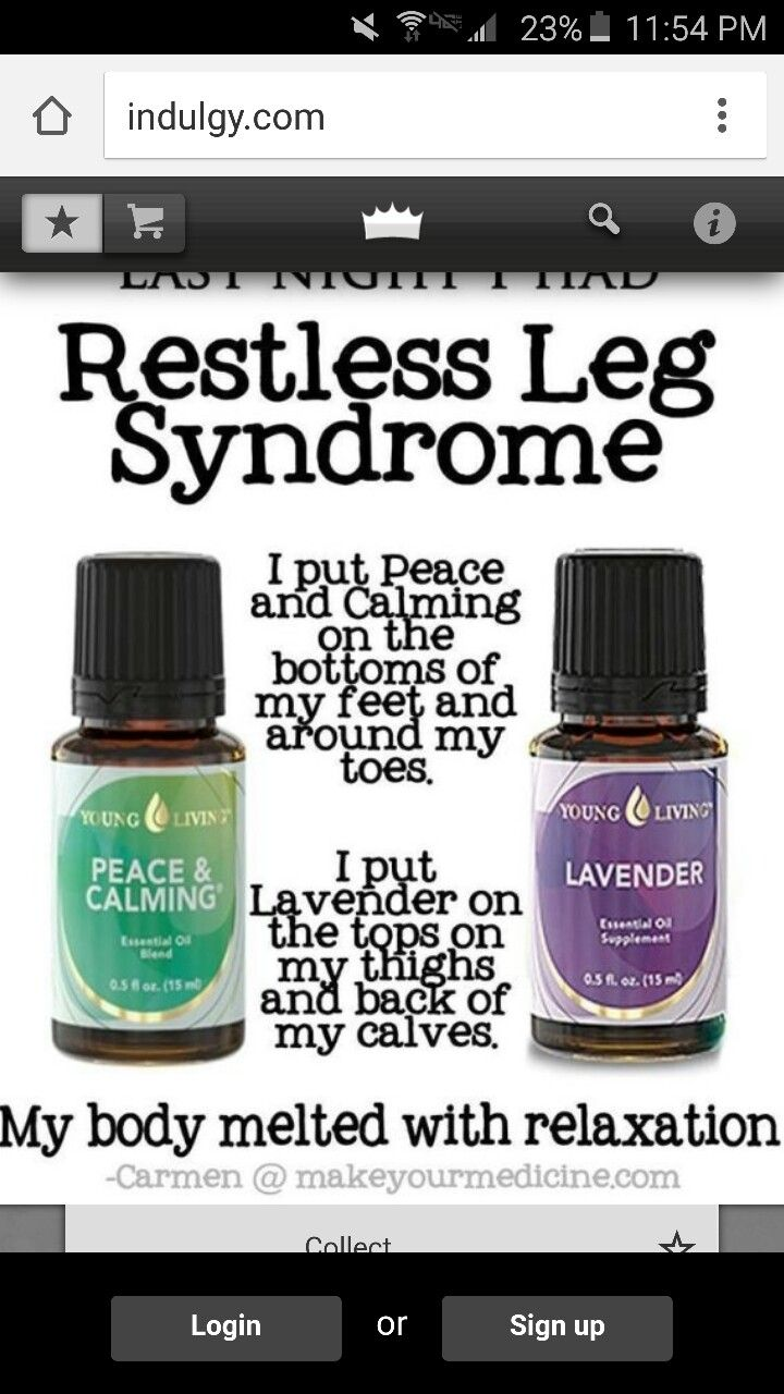 Restless leg syndrome by Sands on ESSENTIAL OILS