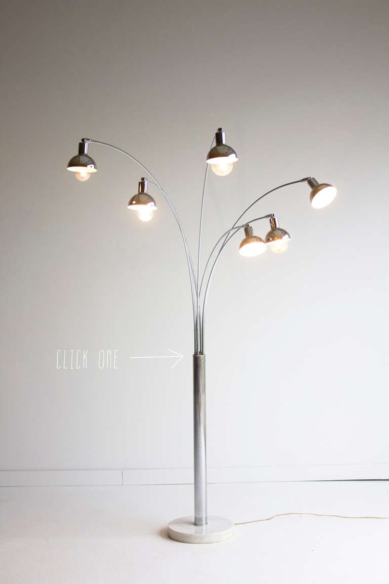 6 Arm Arc Floor Lamp for Mutual Sunset Lighting Co. image 2 ...