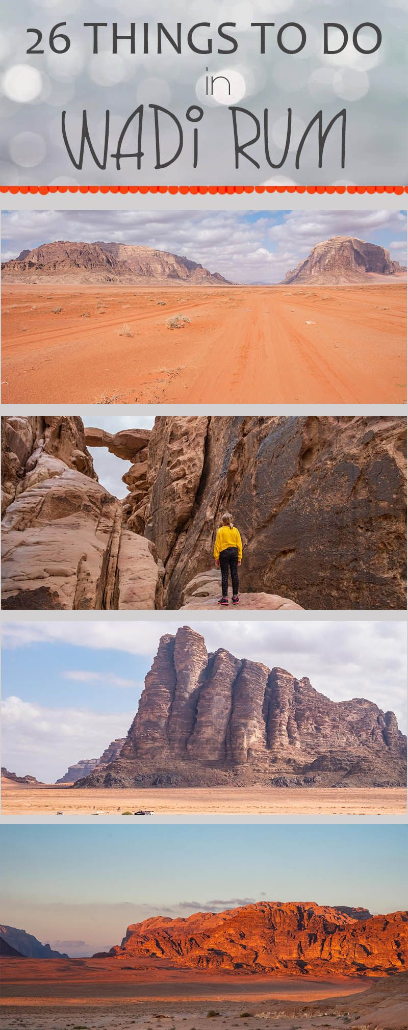 26 things to do in Wadi Rum from Um Sabatah Camp #wadirum