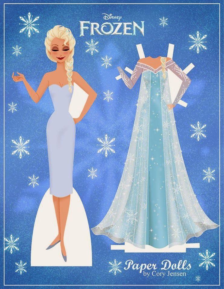 Frozen Bonecas De Papel Com Imagens Frozen Para Impressao Bonecas De Papel Vintage Bonecos De Papel