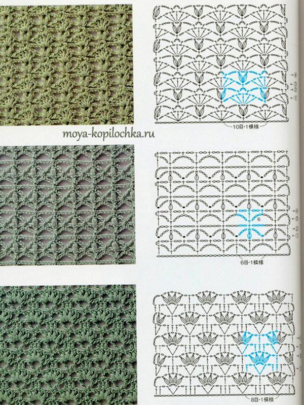 Colección de patrones y motivos, los de punto | Patrones de tejido ...
