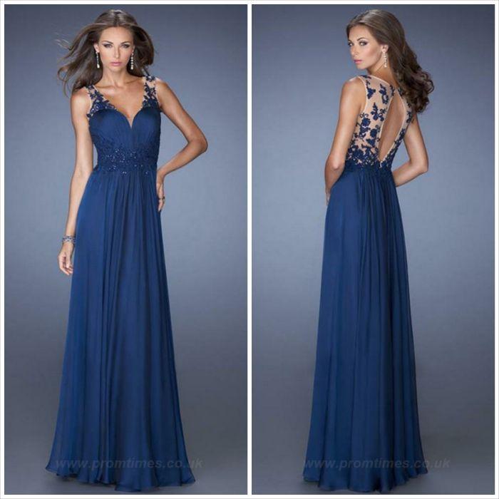 23529e940531 abito lungo - blu Vestiti Formali