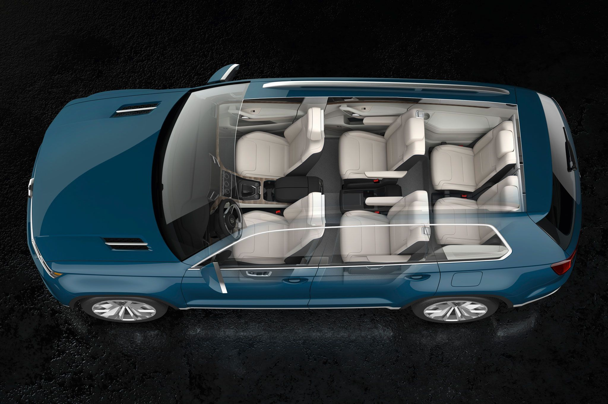 2017 Vw Crossblue Concept Top View