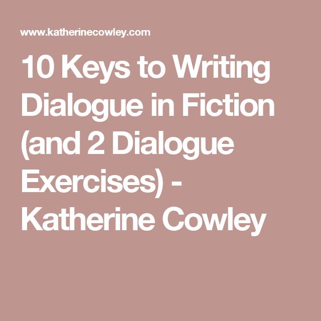 dialogue exercises creative writing