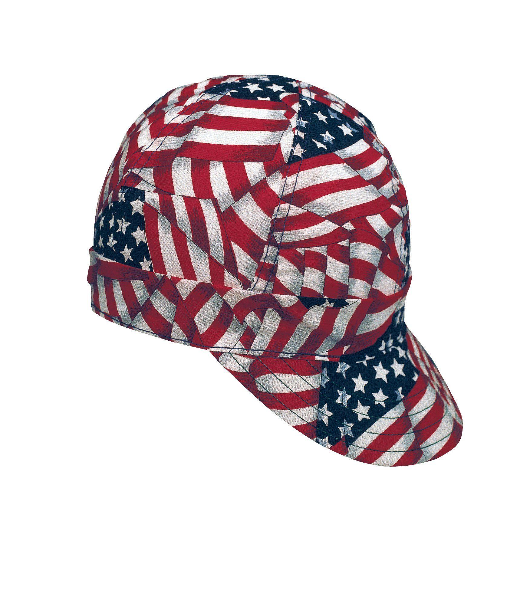 Mutual Industries 00336 00000 6875 Kromer Usa Flag Style Welder Cap 6 7 8 Cotton Length 5 Width 6 Ad Kromer Affiliate Us Welder Cap Usa Flag Style
