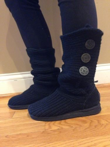 efd6a006c6a 2013 Knit UGG Australia, Ugg Classic Cardy Knit Black Tall Boots ...