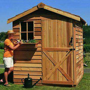 cedar shed 8 x 12 ft gardener storage shed storage sheds at hayneedle