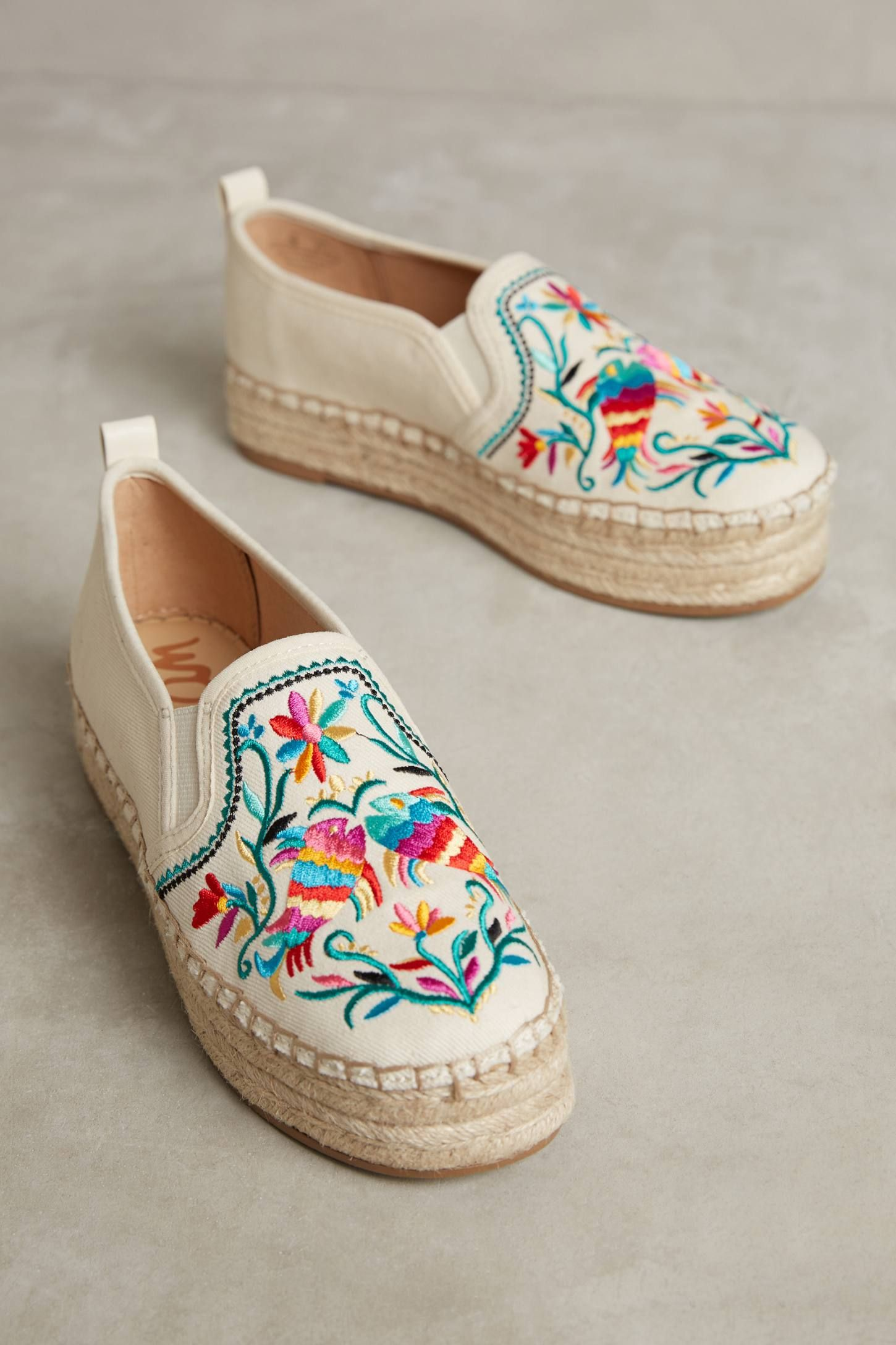 Sam Edelman Embroidered Canvas Espadrilles w/ Tags sale classic cqv2Iy8o