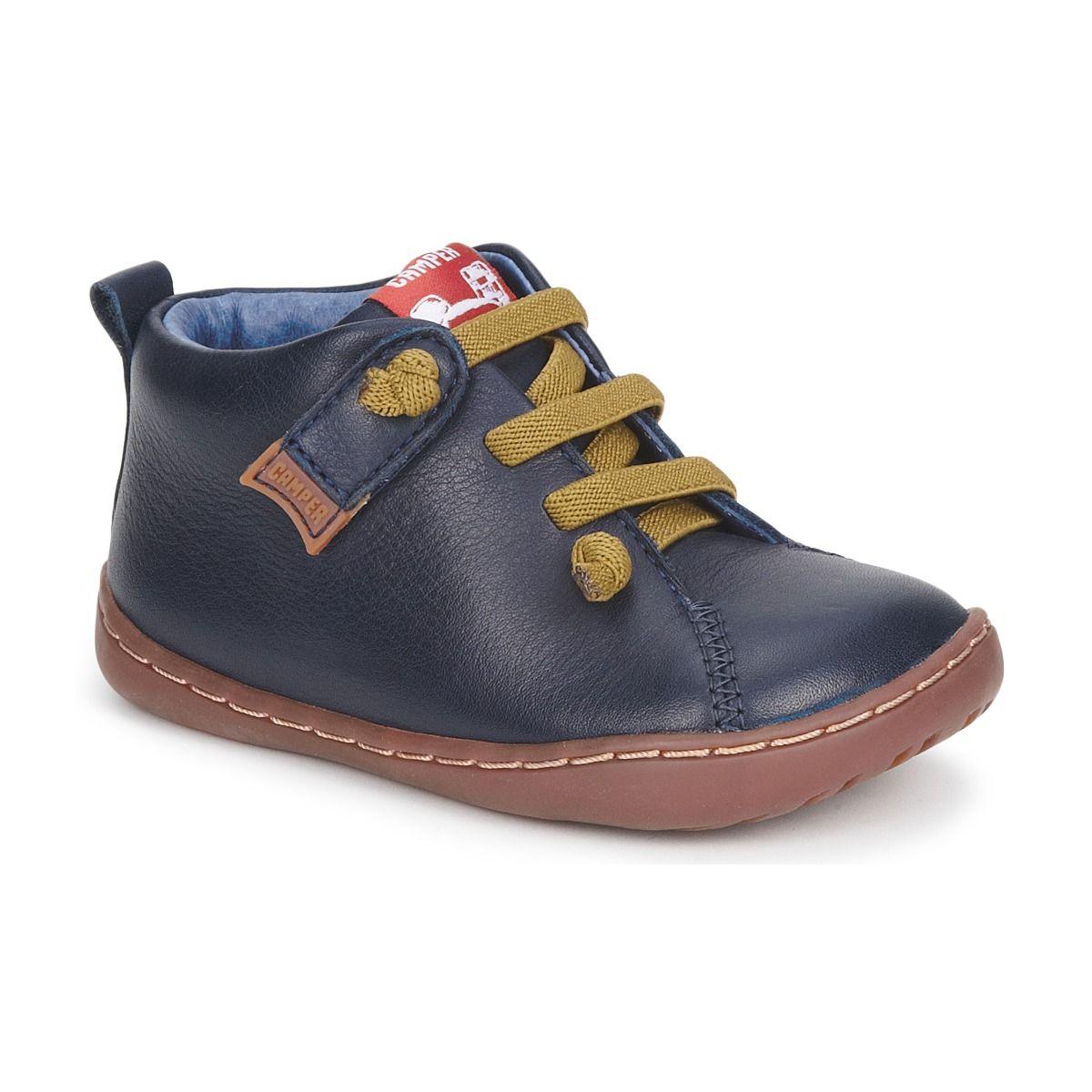 7ff1eef5be9 Botines de cuero modelo Peu Cami de Camper para niño o niña en Spartoo.es   zapatos  niños