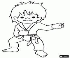 Child Bullying Sports Coloring Pages Martial Arts Kids Child Bullying