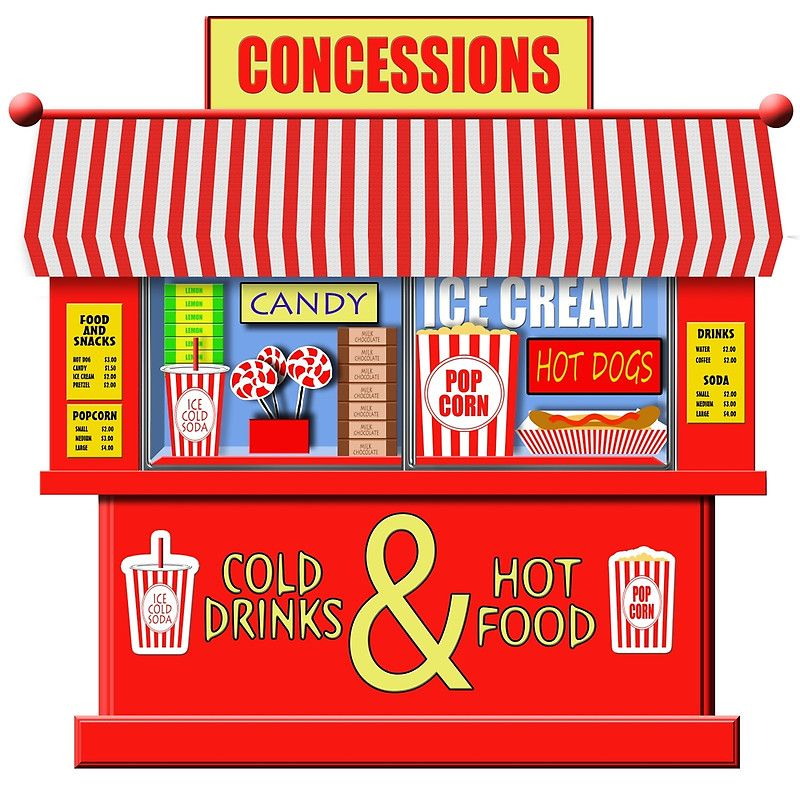 Concession Stand For Theater Room With Images: 'Movie Theater Concessions Stand ' Metal Print By