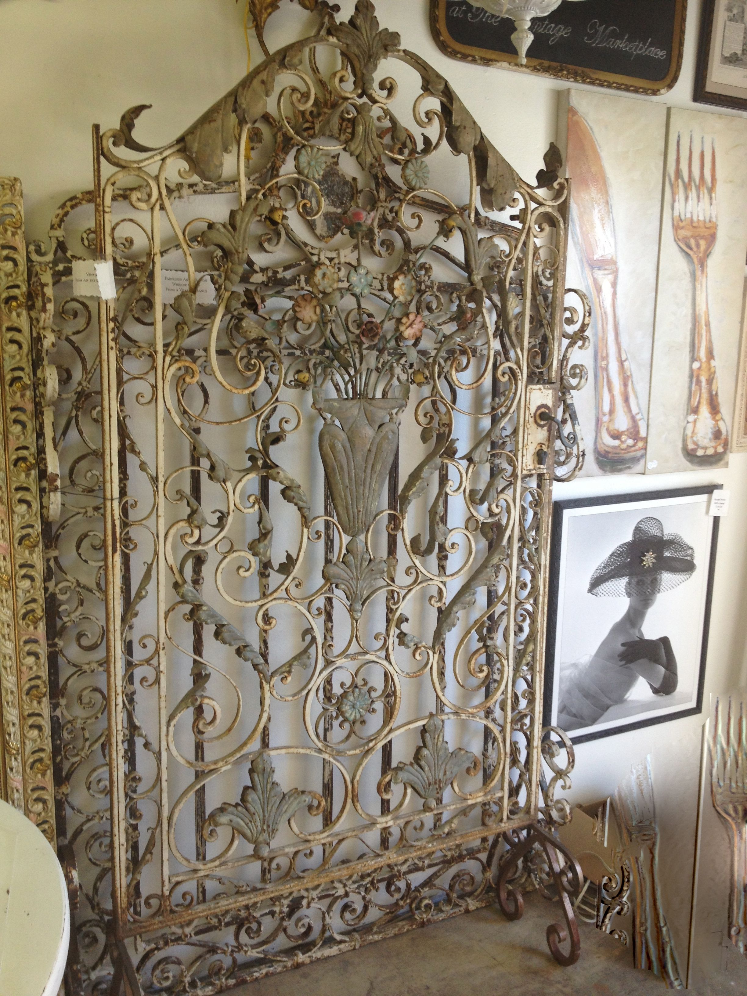 Pin antique garden gates in wrought iron an art nouveau style on - French Iron Gate Sold