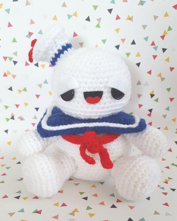 Ghostbusters Stay Puft Marshmallow Man Amigurumi Pattern PDF