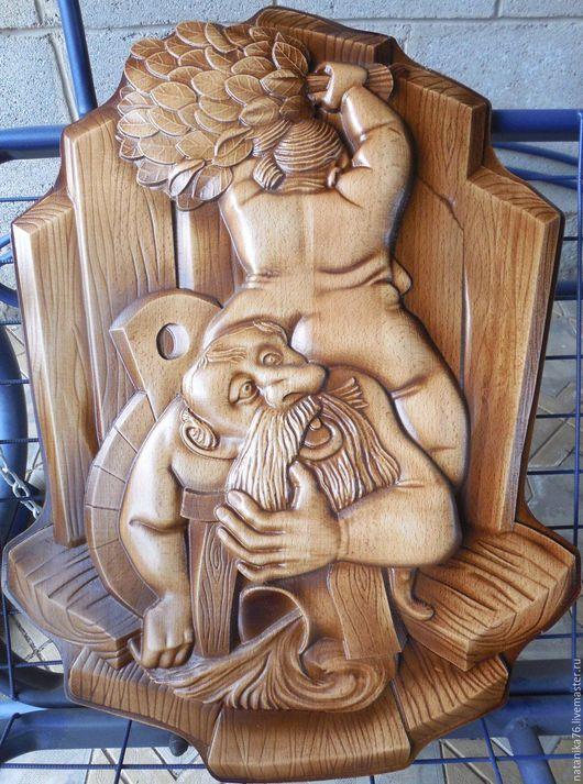 картина деревянная резная натуральное дерево картина в