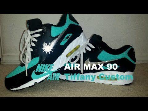 DIY: | Sneaker Customs #3 | Nike Air Max 90 | Tiffany - YouTube