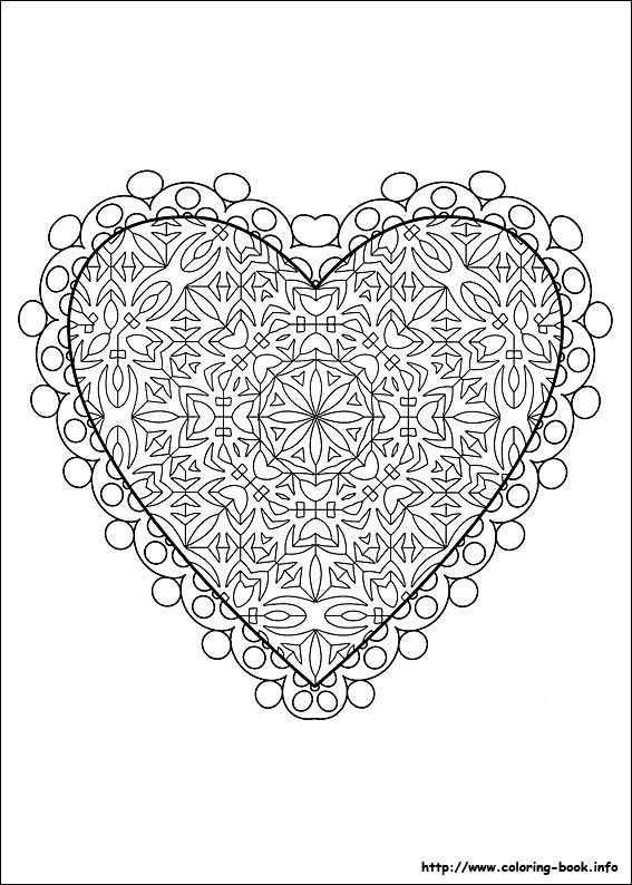 Valentine\'s Day coloring picture | !My coloring pages | Pinterest ...