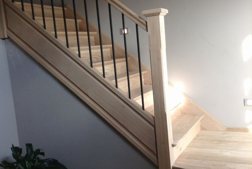 Trap hout modern metaal google zoeken trap pinterest - Metalen trap design hout ...