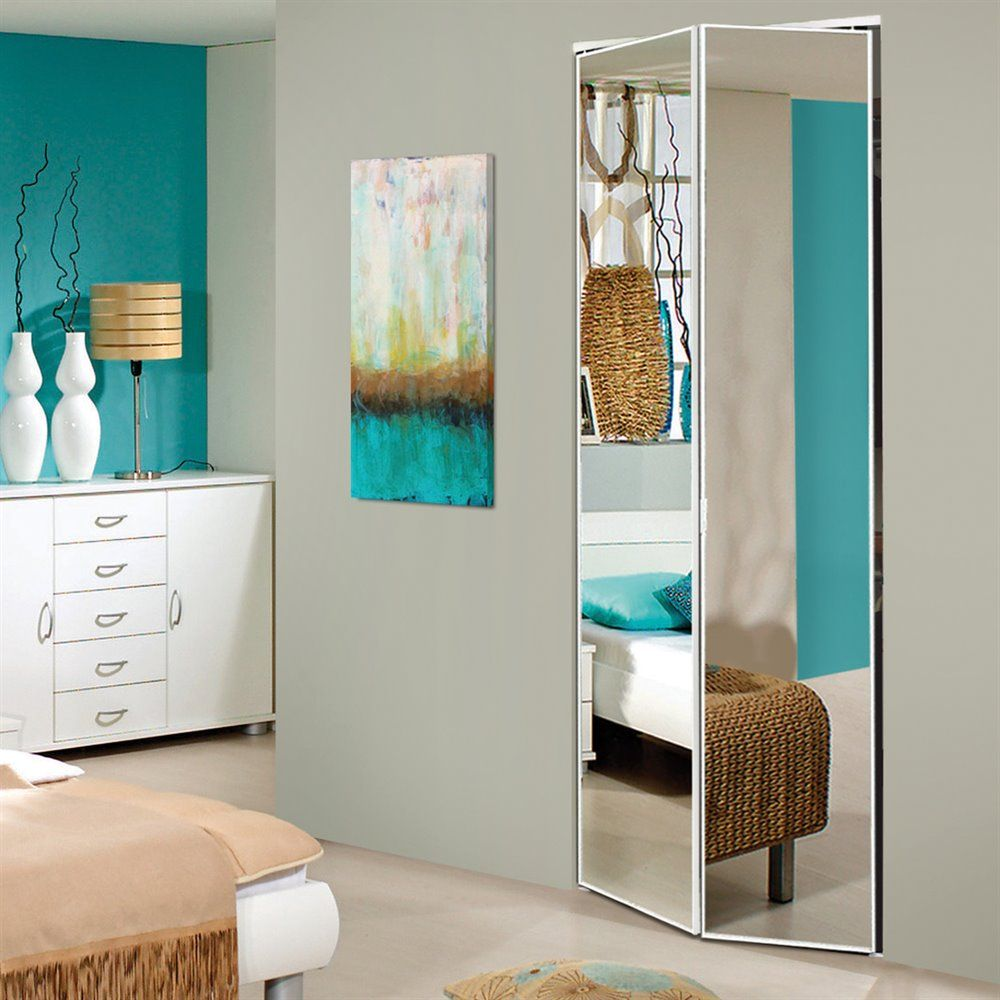 Use a White Clear Mirror Door for double duty to save