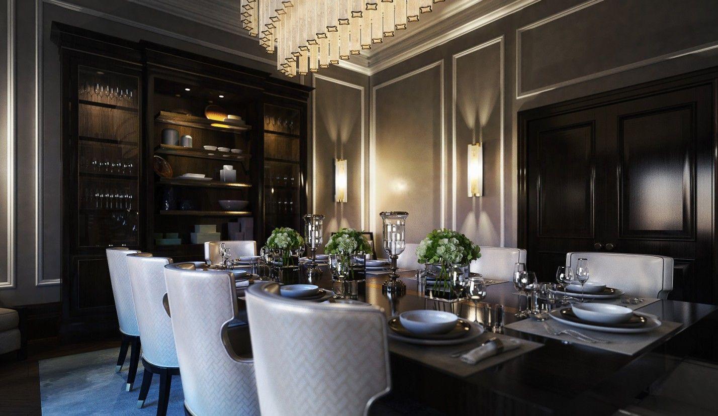 Dark Dining Room Ideas Part - 42: Luxury Dining Room By M Design