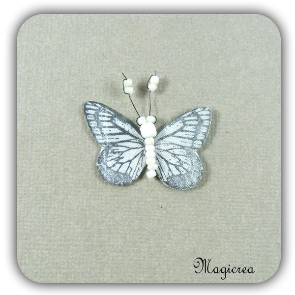 STICKER PAPILLON SOIE 3.5 CM BLANC - Boutique www.magicreation.fr