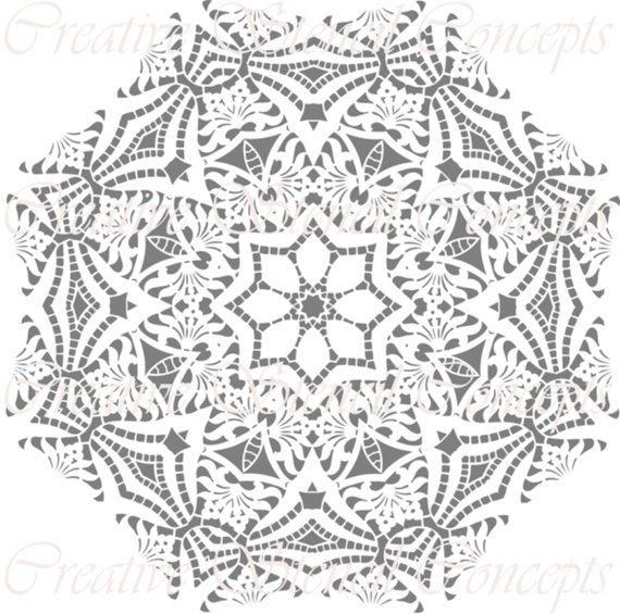 Mandala Decorative Stencil MULTIPLE SIZES AVAILABLE on Industry ...