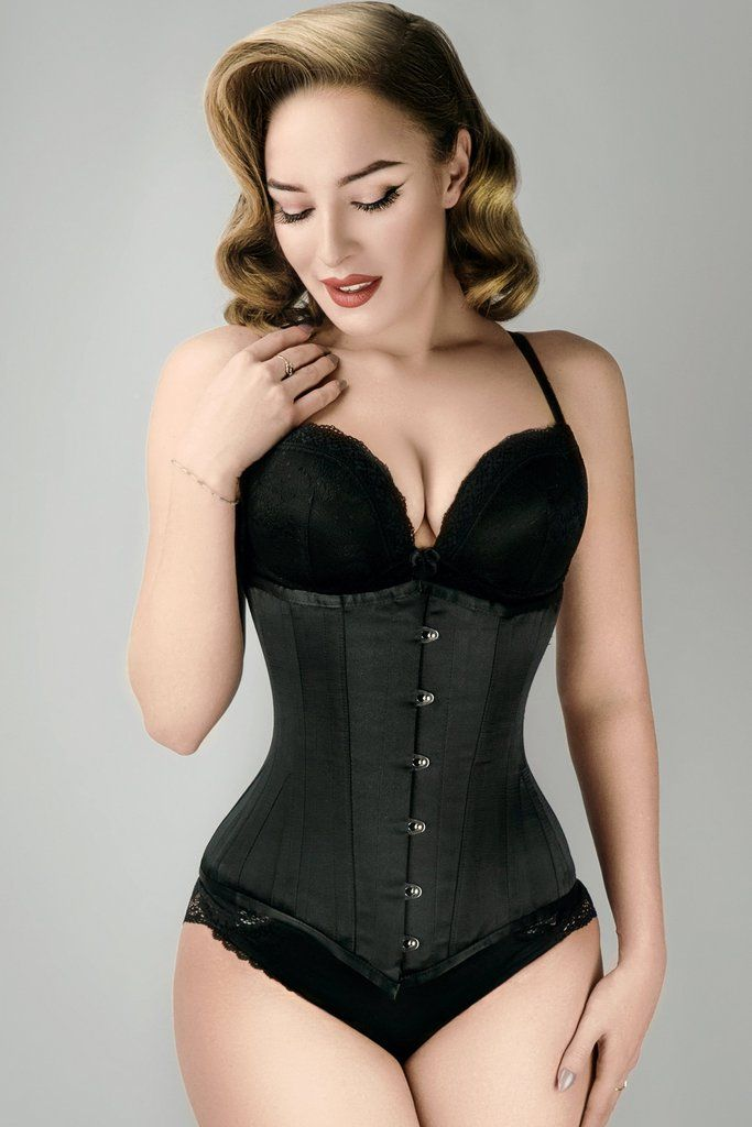 b4326bd8eb7 Long Line Expert Waist Training Underbust Corset Black - 20 in 2019 ...