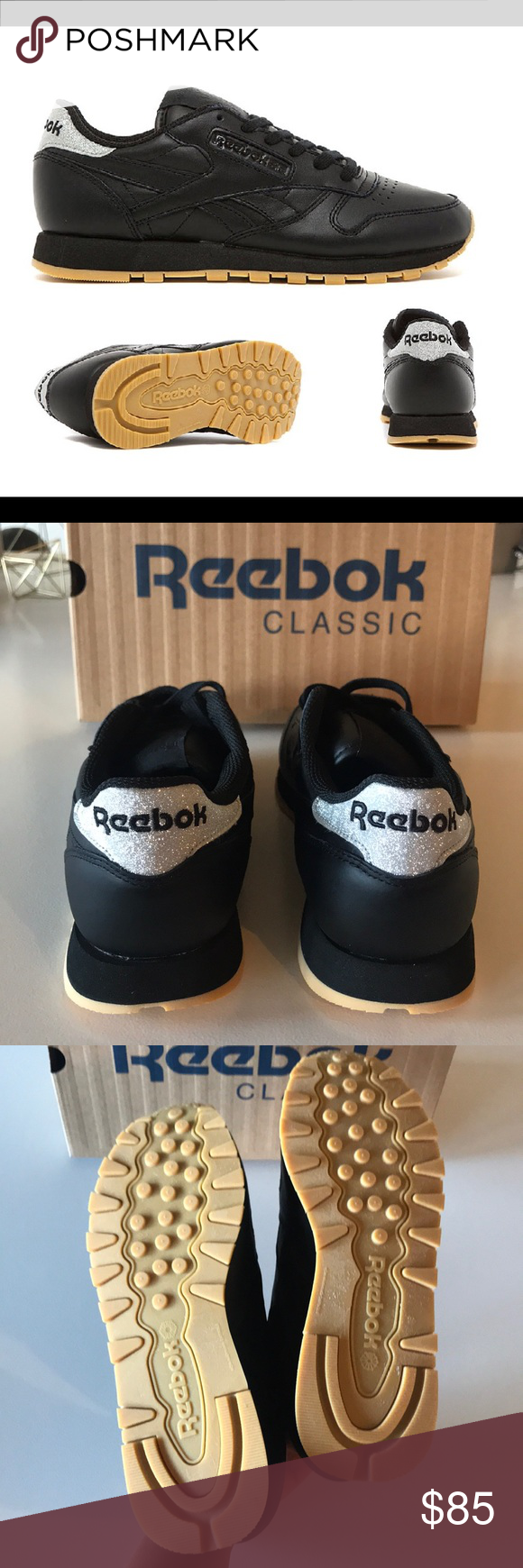 6e57a3bcab26 NWT Reebok Classic Black Leather  Diamond Pack  Super Comfortable and  Stylish!! Reebok Shoes Sneakers