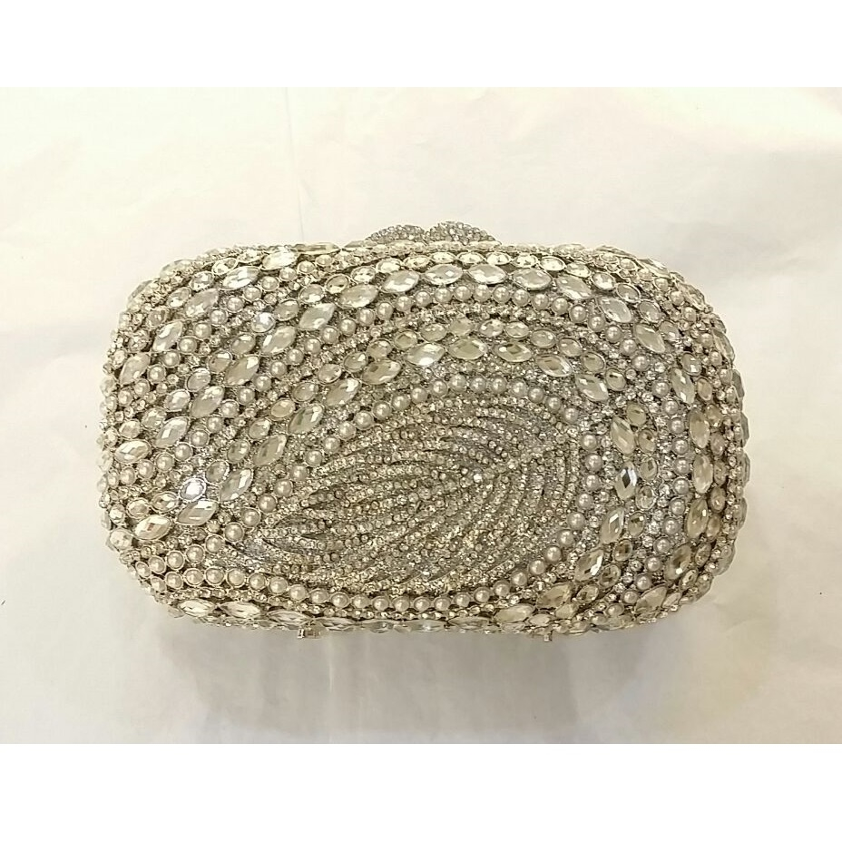 69.00$  Watch here - http://alimzq.worldwells.pw/go.php?t=32664279564 - 8319S Crystal Pearl Leave Lady Fashion Wedding Bridal Party Night hollow Metal Evening purse clutch bag box handbag case 69.00$
