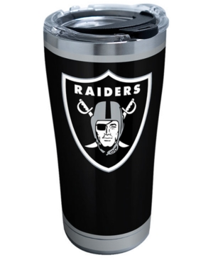 Silver Tervis 1299953 NFL Oakland Raiders Rush Stainless Steel Tumbler 20 oz