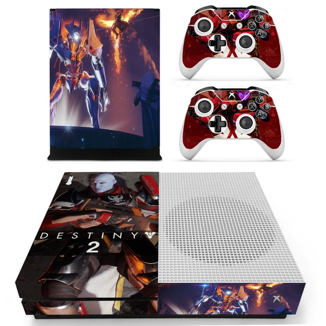 Destiny 2 design skin decal for xbox one s console and 2