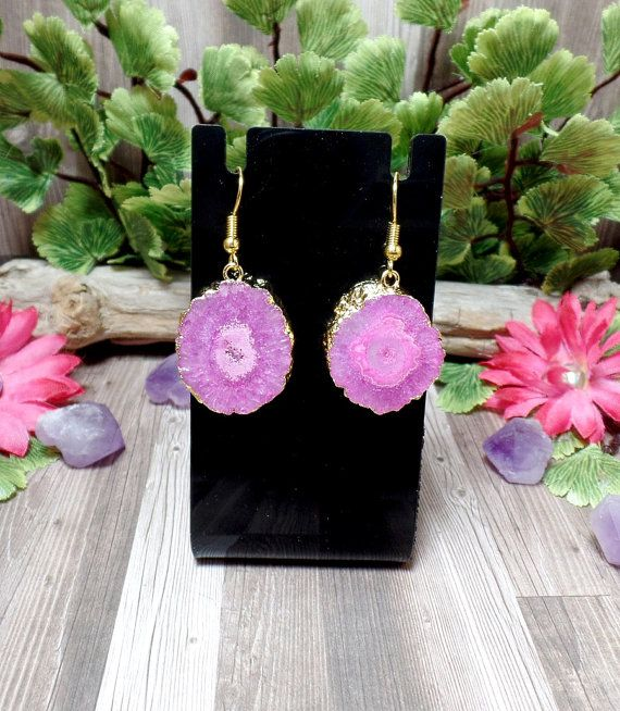 Hey, I found this really awesome Etsy listing at https://www.etsy.com/listing/470556617/pink-solar-quartz-earrings-gemstone