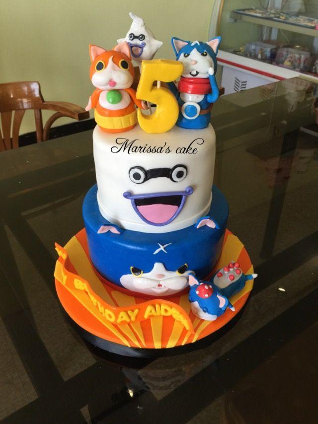 Yo Kai Watch Birthday Cake Visit Us Facebookmarissascake Or