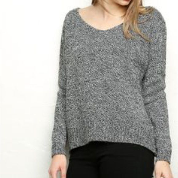 Brandy Melville Sweater Light grey and barely worn!! Lightweight and good for layering Brandy Melville Sweaters V-Necks