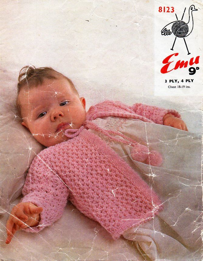 47cd7bb5b1d8 baby jacket knitting pattern PDF 3 ply or 4 ply baby cardigan ...