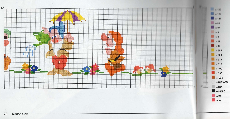 Image result for lenzuolini punto croce schemi gratis for Disney punto croce schemi gratis
