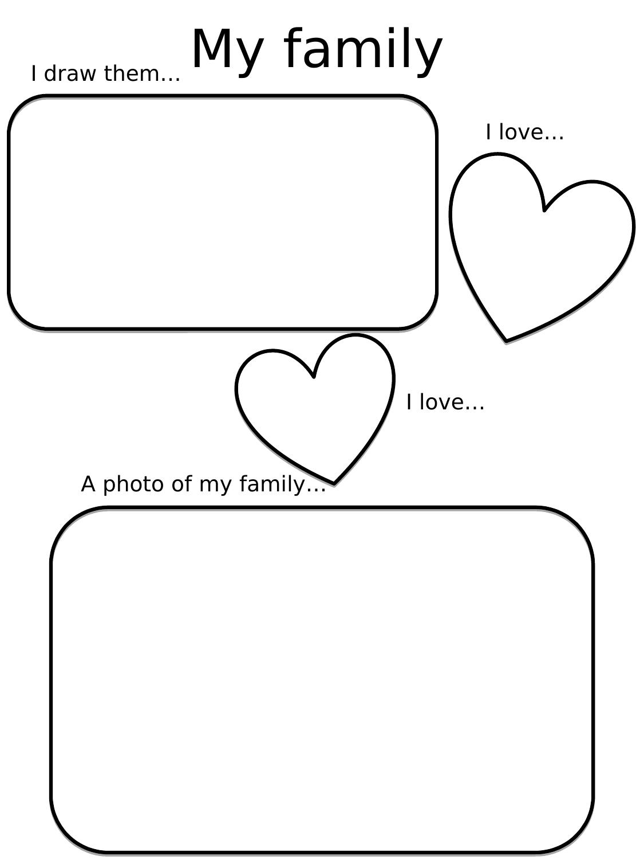 My Family Worksheet