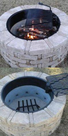 Pilot Rock Steel Fire Ring with Cooking Grate — 32in. Diameter, Model# FSW-30/7/TB