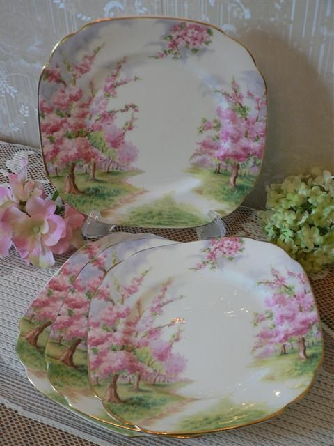 "Royal Albert"" Blossom Time"" I've never seen this pattern but it is so pretty I would collect them."