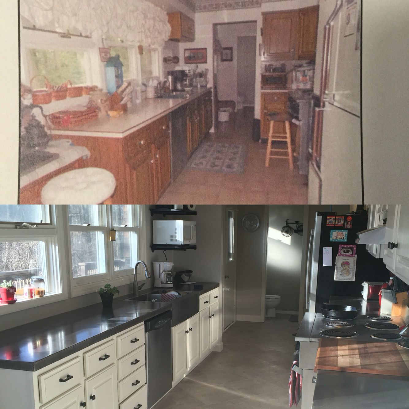 Kitchen Transformation! This is me and my husband's DIY ...