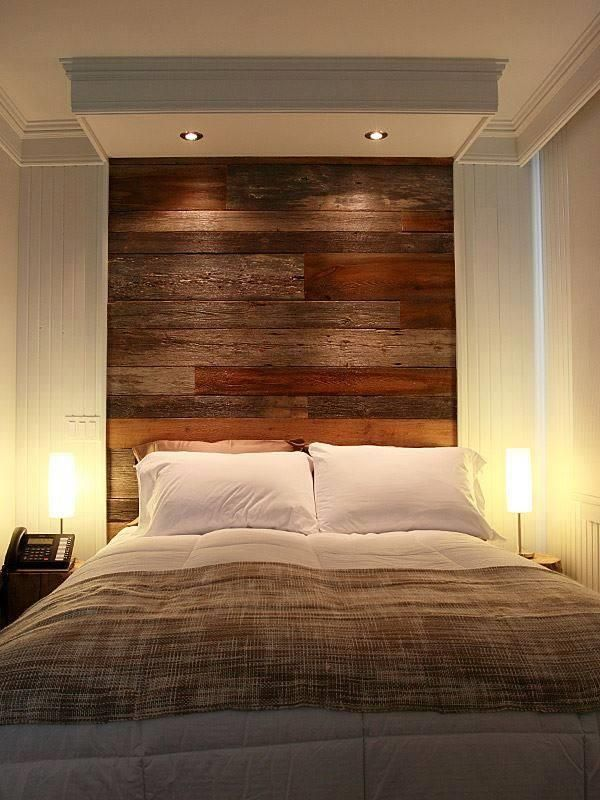 DIY Pallet Wall #Headboard Design | 99 Pallets
