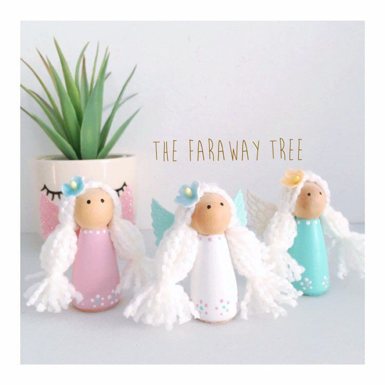 Excited To Share This Item From My Etsy Wooden Peg Fairy Nursery Decor Shelf Accessory Angel Doll Children Bedroom Accessories