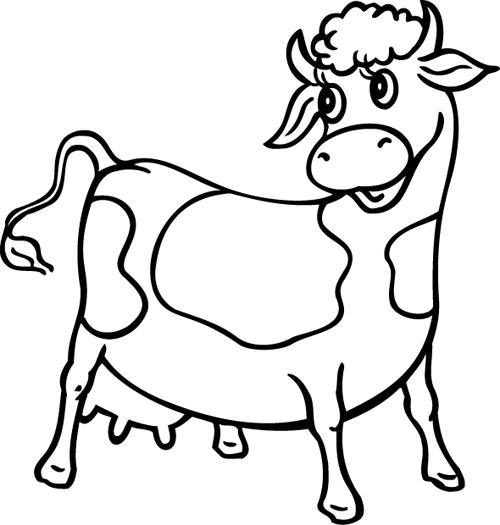 Coloriage De Vache